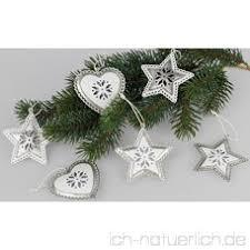 Formano Christbaumschmuck Weihnachtsbaumschmuck 6er Set Weiß