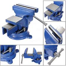table vise. 6 inch 150mm jaw clamp swivel base bench vice vise for workbench table