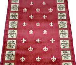 carpet runners by the foot. red fleur-de-lys carpet runner rug 31\ runners by the foot f