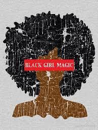 black girl magic afro girl essential t