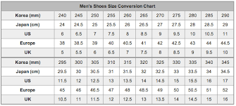 Men Shoe Size Chart Shoes Online