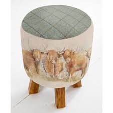 highland cattle monty stool