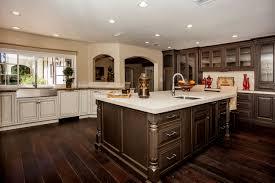 Kitchen With Hardwood Floor New Dark Hardwood Floor In Kitchen 43 About Remodel With Dark