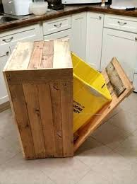wooden garbage can holder cabinet plans out pallet wood outdoor trash storage
