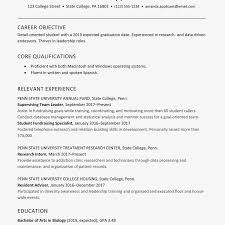 College Senior Resume Example And Writing Tips