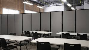classroom space is easily divided with a room divider 360coworking space divider