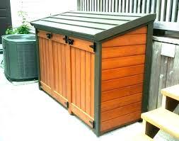 trash can holder wooden rustic garbage wood kitchen tilt out cabinet holde