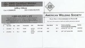 Jeffrey Gibson Aws Certified Welding Inspector Nace Level 2