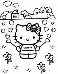Kleurplaat Hello Kitty Feest