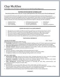 Army Resume Professionally Written Military Resume To Civilian Sample