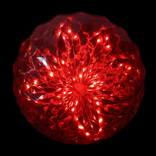 Light Ball Home Depot Northlight 20 Count Red Led Hanging Crystal Sphere Ball Outdoor Christmas Decoration