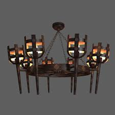 curtain wonderful iron chandeliers rustic 24 classic meval chandelier cgtrader adorable for round with candles black