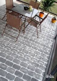 exterior floor paint grey. faux brick patio floor, so easy to do! exterior floor paint grey e