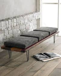 Sofas and benches.
