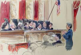 same sex marriage aca two occasions for supreme court restraint this artist rendering shows civil rights lawyer mary bonauto right arguing before the supreme court during its hearing on same sex marriage tuesday
