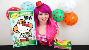 Get crafts, coloring pages, lessons, and more! Hello Kitty Giant Coloring Page Crayola Coloring Book Coloring With Kimmi The Clown Video Dailymotion