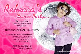 Childrens Disco Invitations Invitations Disco Hip Hop Dance Party