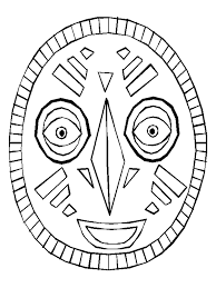 Small Picture African Mask Template Virtrencom