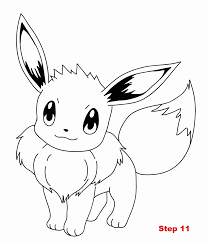 Coloring Pages Pokemon Eevee Coloring Home