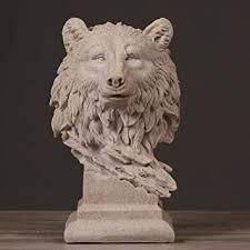 DSZXHN Statues for Home Decor,<b>Creative Abstract</b> Sandstone <b>Wolf</b> ...