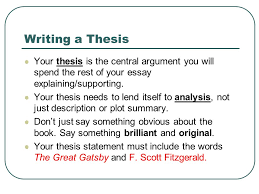 establishing the main idea of your critical analysis essay ppt  writing a thesis your thesis is the central argument you will spend the rest of your