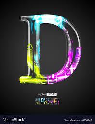 The Letter D Design Design Light Effect Alphabet Letter D