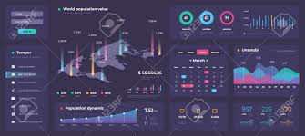 Web App Charts Infographic Dashboard Template White Modern Web App Ui With