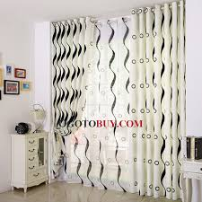 Geometric Pattern Curtains Delectable Simple White Modern Curtain Printed With Black Lines And Geometric