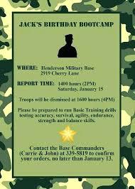 Retirement Invitations Free Birthday Invitations Gallery Of Army Invitation Templates
