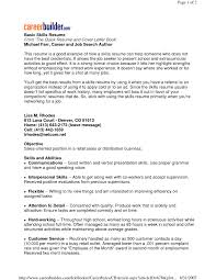List Of Skills For Resumes Roddyschrock Com