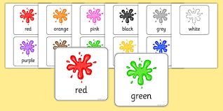 I combined shapes and colours in this set of flash cards. Free Color Flash Cards Teacher Made