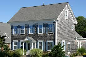 Wonderful House With Wood Shingle Siding.