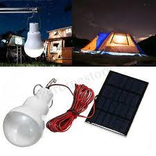 15W/<b>20W</b> Solar Panel Power LED Bulb <b>Portable</b> Light Outdoor ...