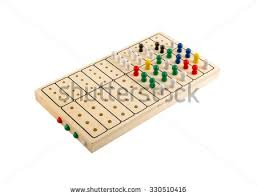 Wooden Path Game Mastermind Wooden Brain Teaser Game Isolated Stock Photo 100 98