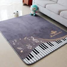 130x150cm piano notes carpets for living room home area rugs for bedroom shelf drum floor mat cartoon carpet kids room anti slip shaw carpet tiles