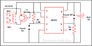 touch on and off switch circuit diagram and working circuit touch on and off switch circuit diagram and working