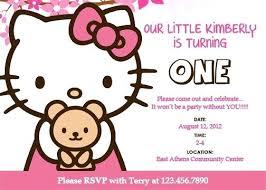 Hello Kitty Birthday Invitations Party City Free Personalized