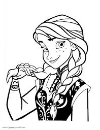 Small Picture Frozen Anna coloring pages