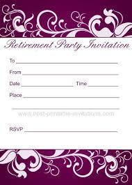 Retirement Invitations Free Retirement Party Invitation