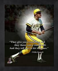 Willie Stargell Hit It Square Pittsburgh Pirates FRAMED 40x40 PRO Magnificent Pittsburgh Quotes