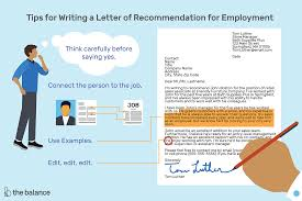 writing recommendation letter recommendation letters for employment