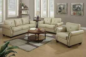 beige leather sofa. Beige Leather Sofa And Loveseat Set I