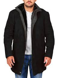 men suede black jacket men black leather coat