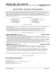 Property Manager Job Description Samples Resume For Property Management Job Resume Sample