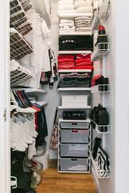 Smart White Small Closet Organization Ideas Featuring Wall Mount Rack And  Shelves Including Plastic Storage Units