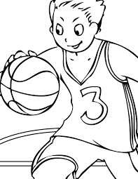 Small Picture Basketball Coloring Page Handipoints