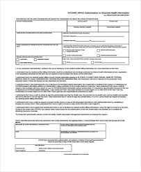 Hipaa Authorization Form Magnificent 48 HIPAA Release Form Samples Free Sample Example Format Download