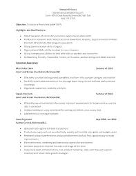 Clerical Resume Sample Best of Objective For A Resume Examples Armnico