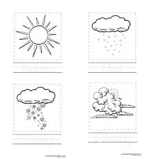 Small Picture Weather Preschool Printables