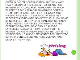 i mportance of written communication w ritten communication is  organization of a letter essay article or book is also important factors of